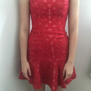 BCBGMAXAZARIA Red Dress Great for Homecoming!!